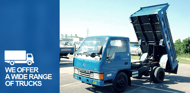 We offer a wide range of trucks.